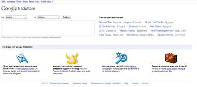 google traduttore nel 2010